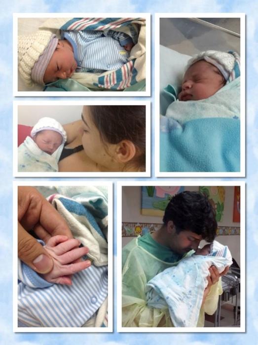 Our little bundle of joy, our adorable son! (L)