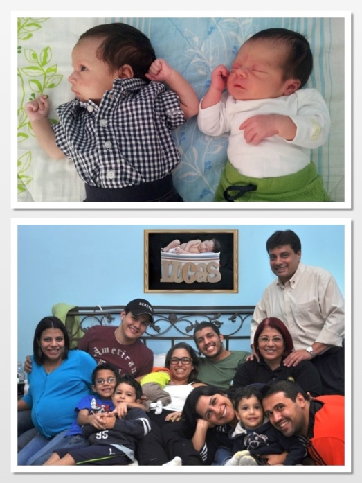His cousin Mauricio and Leo's family the day before Mauricio was born!